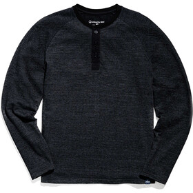 United By Blue Thermal Top Henley Hombre, black